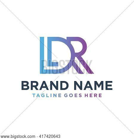 Modern Monogram Logo Design With Letter Ldr