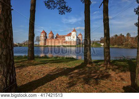 Grand View To Castle Of Mir, Minsk Region, Belarus.