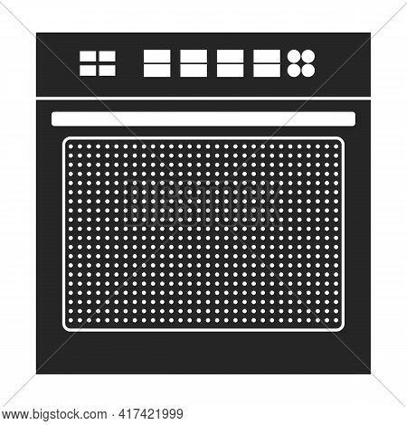 Oven Vector Black Icon. Vector Illustration Stove On White Background. Isolated Black Illustration I