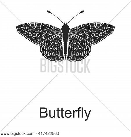 Butterfly Vector Black Icon. Vector Illustration Pest Insect Butterfly On White Background. Isolated