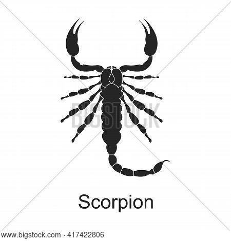 Scorpion Arthropod Vector Black Icon. Vector Illustration Pest Insect Scorpion On White Background.