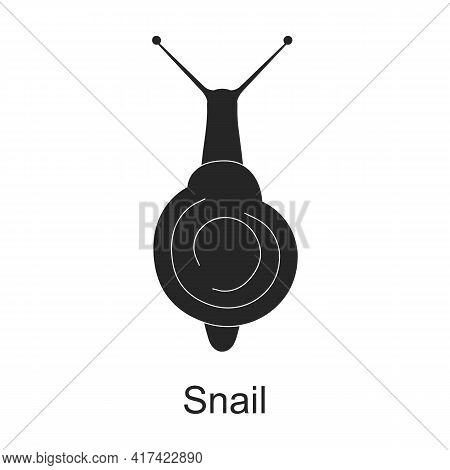 Snail Vector Black Icon. Vector Illustration Pest Insect Snail On White Background. Isolated Black I