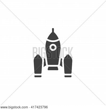 Spacecraft Shuttle Vector Icon. Filled Flat Sign For Mobile Concept And Web Design. Space Shuttle Gl