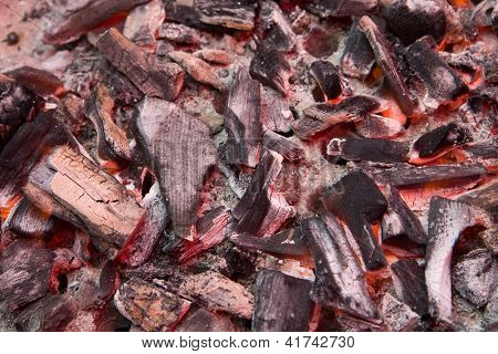Red Hot Burning Charcoal