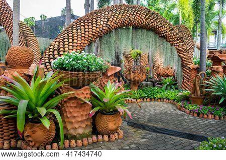Pattaya,thailand- January 27,2019: Ceramics In The Park Of Madame Nong Nooch
