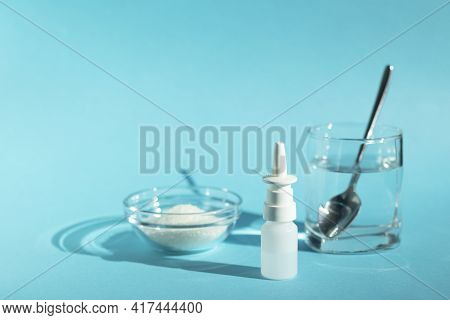 Salt And Water For Nasal Wash Solution, Nasal Spray. Treatment Of Viral And Colds.