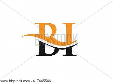 Initial Linked Letter Bi Logo Design. Modern Letter Bi Logo Design Vector With Modern Trendy
