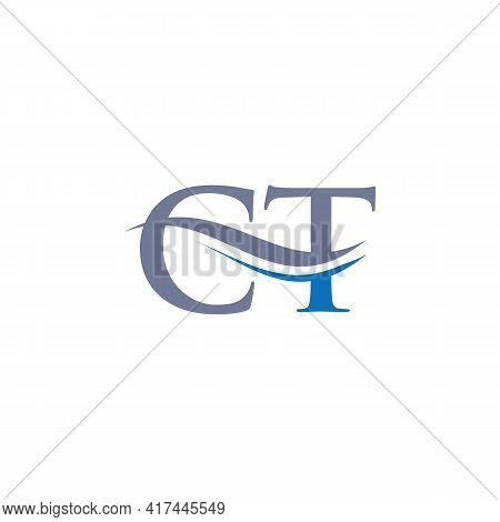 Initial Linked Letter Ct Logo Design. Modern Letter Ct Logo Design Vector With Modern Trendy
