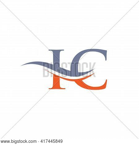 Ic Linked Logo For Business And Company Identity. Creative Letter Ic Logo Vector