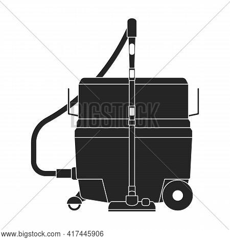 Vacuum Cleaner Vector Black Icon. Vector Illustration Robot Carpet On White Background. Isolated Bla