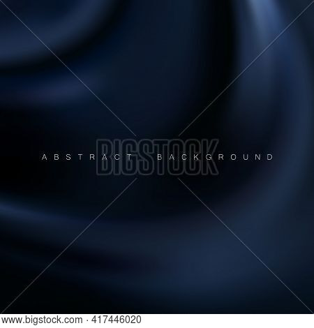 Beautiful Blue Satin. Drapery Background, Mesh Vector Illustration