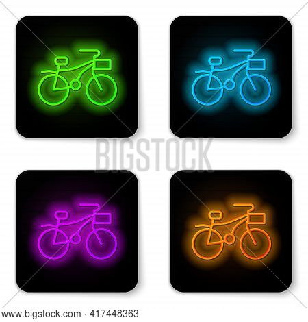 Glowing Neon Line Bicycle Icon Isolated On White Background. Bike Race. Extreme Sport. Sport Equipme