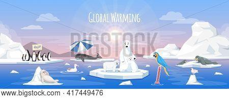 Global Warming, Environment Pollution, Global Warming Heating Impact. Change Climate. Global Warming