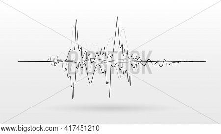 Noise Vibrations Amplitude Sound Wave Signal Vector Background
