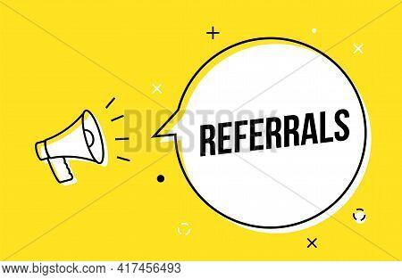 Referral Spread Icon Friend Customer Icon Review Marketing Referral Megaphone
