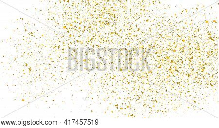 Glitter Gold Background Sparkle Dust Vector Confetti Explosion. Golden Glitter Dust Pattern