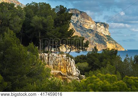 View Of The Calanque De Port Mioux, One Of The Largest Fjords Between Marseille And Cassis, France