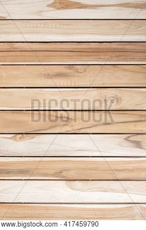 Empty Brown Wood Table Background. Mock Up For Your Product Display Or Montage