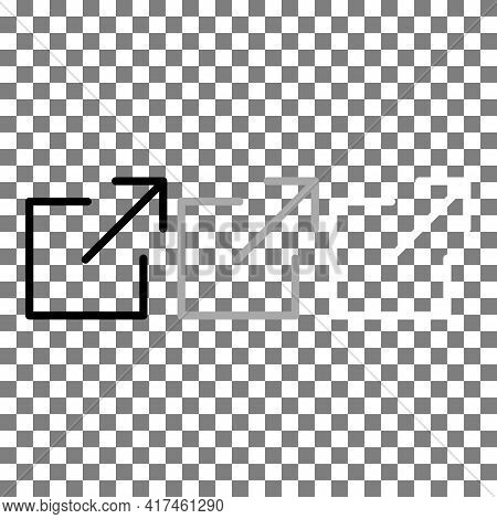 Shrink Or Deacrease The Screen To The Background View Icon In Black, Grey, White. Trendy Flat Isolat