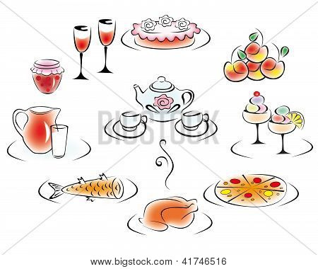 Delicious food and drink