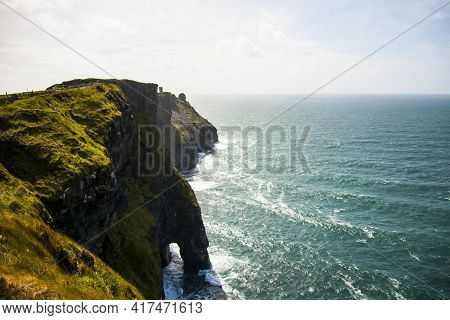 Spring Landscape In Cliffs Of Moher (aillte An Mhothair), Ireland