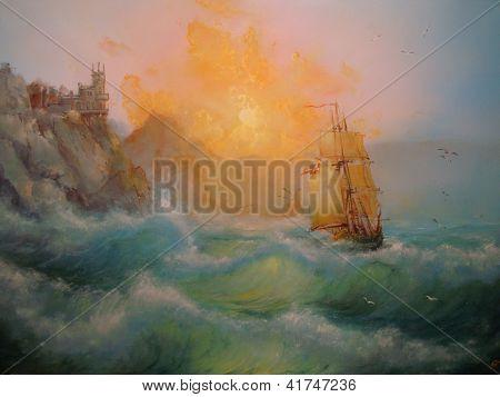 Seascape Crimean landscape