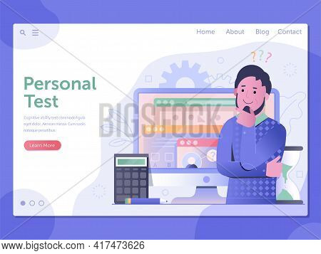 Personal Ability Test Web Landing Page Template