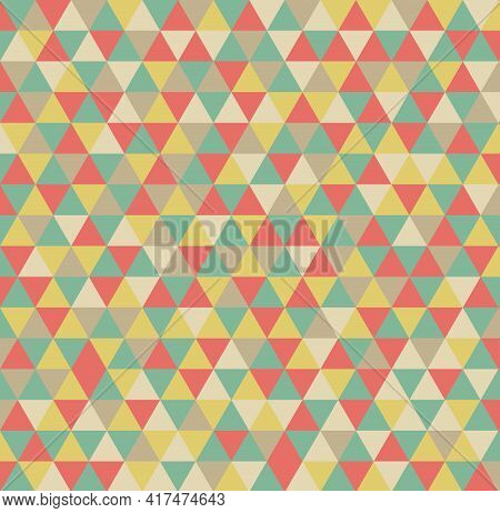 Geometric Patterns Triangles Shape.color Retro Style. Design For Artwork, Poster,flyer, Product, Fab