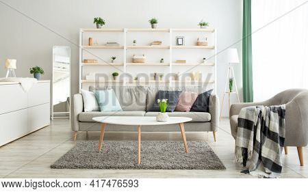 New Apartment, Real Estate Rental And Ad Of Modern Apartment