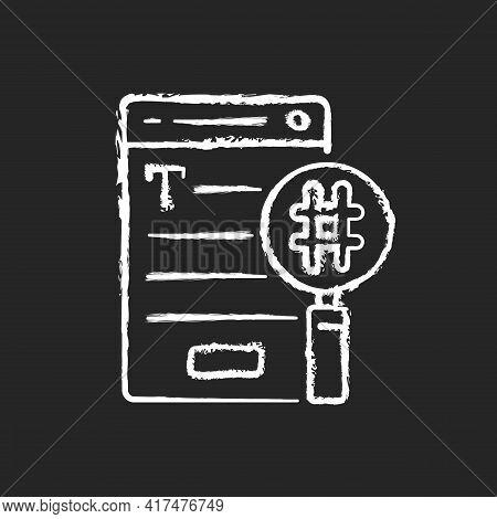 Seo Copywriting Chalk White Icon On Black Background. Search Engine Optimization Service. Commercial
