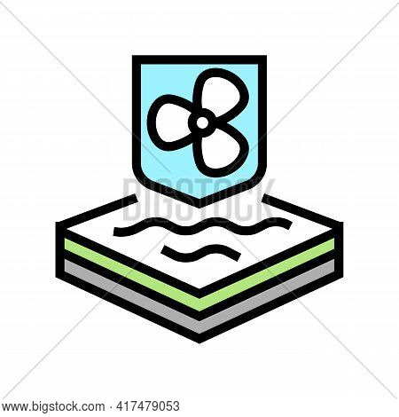 Cool Fabrics Properties Color Icon Vector. Cool Fabrics Properties Sign. Isolated Symbol Illustratio