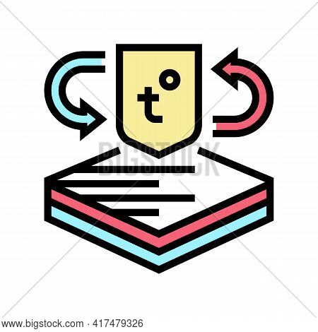 Thermo Fabrics Properties Color Icon Vector. Thermo Fabrics Properties Sign. Isolated Symbol Illustr