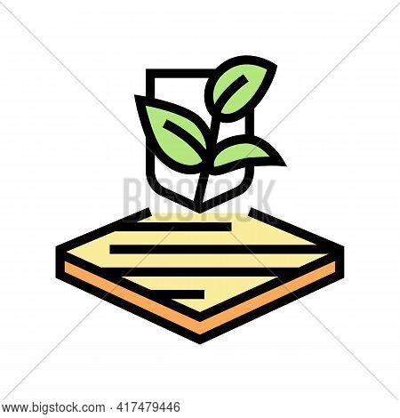 Eco Fabrics Properties Color Icon Vector. Eco Fabrics Properties Sign. Isolated Symbol Illustration