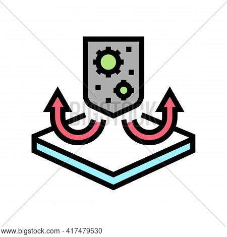 Antibacterial Fabrics Properties Color Icon Vector. Antibacterial Fabrics Properties Sign. Isolated