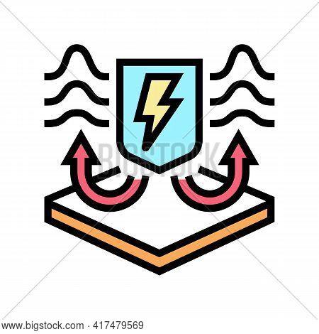 Antistatic Fabrics Properties Color Icon Vector. Antistatic Fabrics Properties Sign. Isolated Symbol