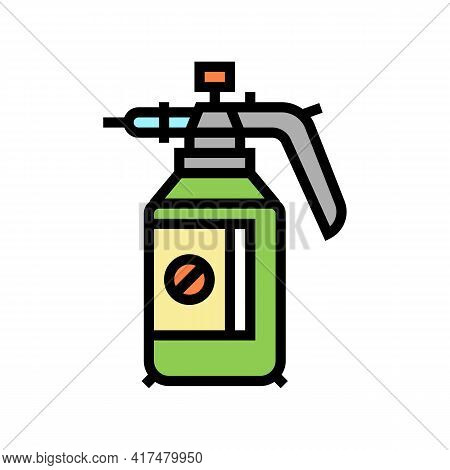 Chemical Treatment Gardening Color Icon Vector. Chemical Treatment Gardening Sign. Isolated Symbol I