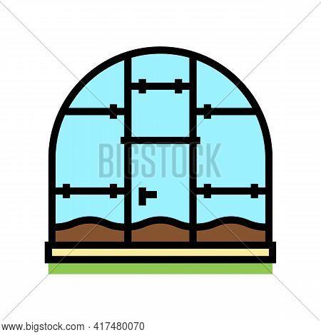 Polycarbonate Greenhouse Color Icon Vector. Polycarbonate Greenhouse Sign. Isolated Symbol Illustrat