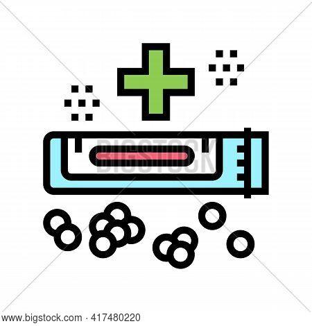 Medical Drug Homeopathy Color Icon Vector. Medical Drug Homeopathy Sign. Isolated Symbol Illustratio