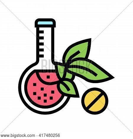 Natural Homeopathy Liquid Color Icon Vector. Natural Homeopathy Liquid Sign. Isolated Symbol Illustr