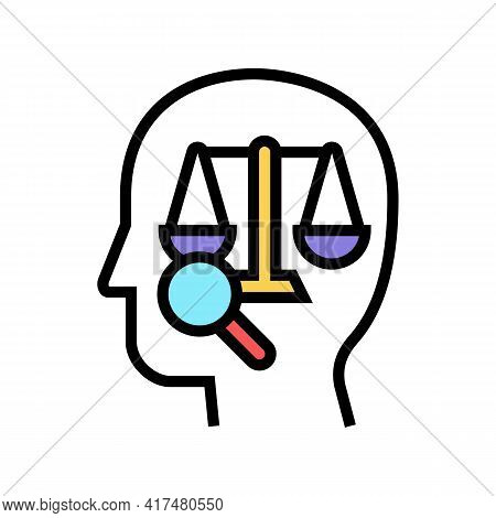 Right Law Dictionary Color Icon Vector. Right Law Dictionary Sign. Isolated Symbol Illustration
