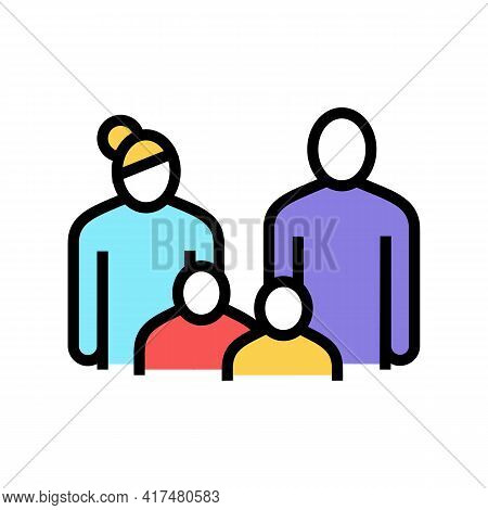 Family Law Dictionary Color Icon Vector. Family Law Dictionary Sign. Isolated Symbol Illustration