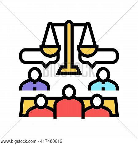 Arbitration Law Dictionary Color Icon Vector. Arbitration Law Dictionary Sign. Isolated Symbol Illus