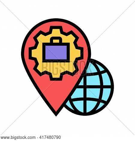 Legal Address Color Icon Vector. Legal Address Sign. Isolated Symbol Illustration