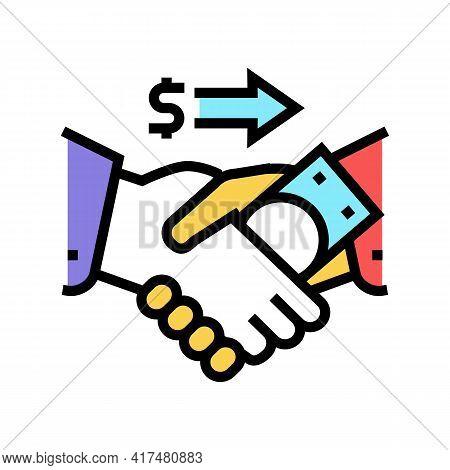 Corruption Law Dictionary Color Icon Vector. Corruption Law Dictionary Sign. Isolated Symbol Illustr