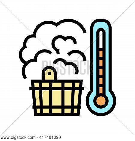 Bath Sauna Mens Leisure Color Icon Vector. Bath Sauna Mens Leisure Sign. Isolated Symbol Illustratio