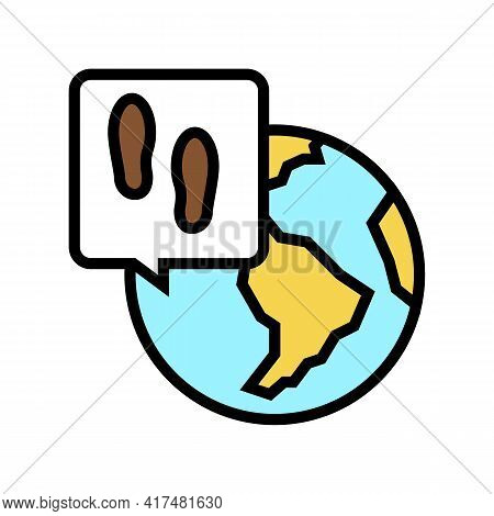 Worldwide Refugee Color Icon Vector. Worldwide Refugee Sign. Isolated Symbol Illustration