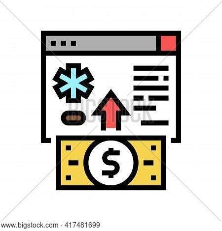Donation For Refugee Color Icon Vector. Donation For Refugee Sign. Isolated Symbol Illustration