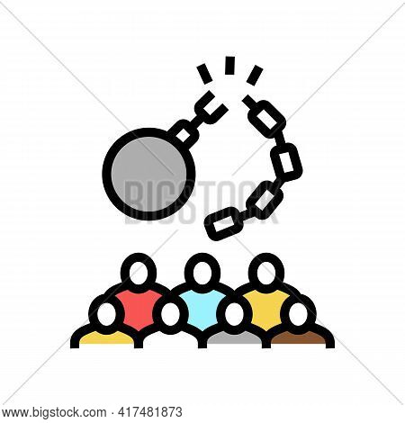 Freedom Of Refugee Color Icon Vector. Freedom Of Refugee Sign. Isolated Symbol Illustration