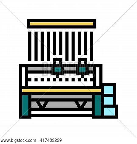 Silk Production Machine Color Icon Vector. Silk Production Machine Sign. Isolated Symbol Illustratio