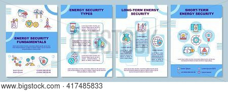 Energy Security Fundamentals Brochure Template. Energy Security. Flyer, Booklet, Leaflet Print, Cove